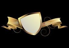 Gold shield Stock Image