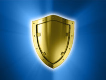 Gold shield. Royalty Free Stock Photography