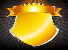 Gold shield Royalty Free Stock Image