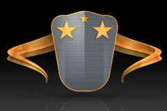 Gold shield Royalty Free Stock Photo