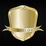 Gold shield Royalty Free Stock Photos