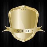 Gold shield Royalty Free Stock Photos