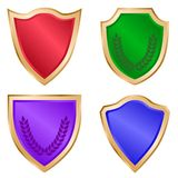 Gold Shield Set Stock Photo