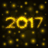 2017 gold shine numbers for greeting cards Stock Images