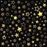 Gold shine stars christmas seamless pattern. Royalty Free Stock Photos