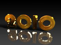 Gold and shiny 2010 Royalty Free Stock Images