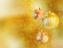Gold shiny Christmas background. Royalty Free Stock Photos
