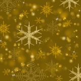 Gold shiny Christmas background Stock Photography