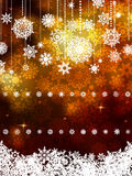Gold shiny Christmas background. EPS 8 Stock Image