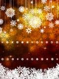 Gold shiny Christmas background. EPS 8 Royalty Free Stock Photo