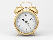 Gold Shiny Clock Royalty Free Stock Photography