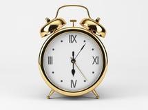 Gold Shiny Clock. On white background Stock Photography