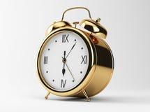 Gold Shiny Clock Stock Image