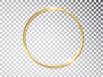 Free Gold Shiny Glowing Vintage Frame With Shadows Isolated On Transparent Background. Golden Luxury Realistic Round Border Stock Image - 148939291
