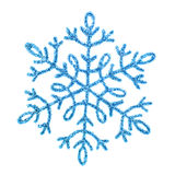 Gold shiny snowflake Stock Image