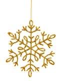 Gold shiny snowflake Royalty Free Stock Photo