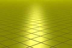Gold shiny tiled floor Stock Images