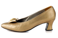 Gold shoe Royalty Free Stock Image