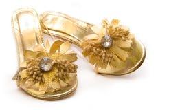 Gold Shoes Stock Photos