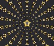Gold Shooting Stars Stock Photo