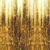 Gold Shooting Stars. On abstract dark background Royalty Free Stock Photo