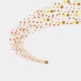 Gold shooting stars Royalty Free Stock Photo