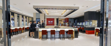 Gold shop. In xiamen city, china. chinese people love gold. business of  is good Stock Image