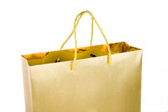 Gold Shopping Bag Royalty Free Stock Photos