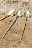Gold Shovels Royalty Free Stock Images