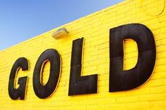 Gold Sign Royalty Free Stock Photos