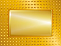 Gold sign and background Stock Image