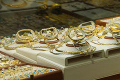 Gold and sikver jewelry Royalty Free Stock Image