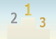 Gold, Silber, Bronze Lizenzfreies Stockfoto