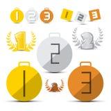 Gold, Silber, Bronze - zuerst, zweite und dritter Platz Lizenzfreie Stockfotos