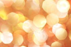 Gold, Silber, Rot, Weiß, orange abstraktes bokeh beleuchtet Stockbild