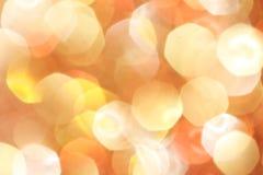 Gold, Silber, Rot, Weiß, orange abstraktes bokeh beleuchtet, defocused Hintergrund Stockbilder