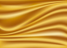 Gold silk background Stock Image