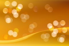 Gold silk background with some soft folds Stock Image