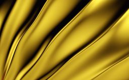 Gold silk drapery and fabric background. 3d render. Ing Royalty Free Stock Photography