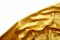 Gold silk fabric Royalty Free Stock Photo