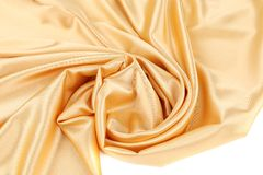 Gold silk swirl. Stock Photography