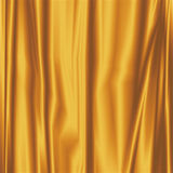 Gold Silky Fabric Royalty Free Stock Photo