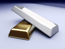 Gold and Silver Stock Photography