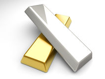 Gold and Silver Stock Image
