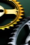 Gold and Silver. Gears royalty free stock image