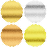 Gold, Silver And Bronze Seals Or Medals With Clipping Path Stock Photo