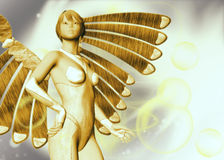 Gold and Silver angel template Stock Photos