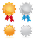 Gold & silver award medals royalty free stock images