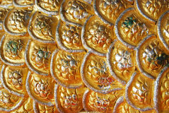Gold silver background. Continuous gold silver curve surface background Royalty Free Stock Photos