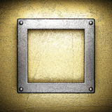 Gold and silver background Royalty Free Stock Image